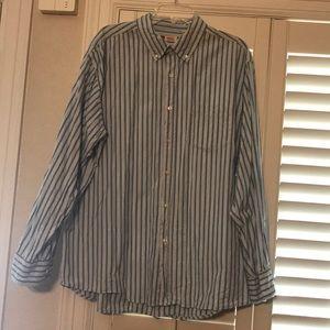 Men's striped long sleeve button down